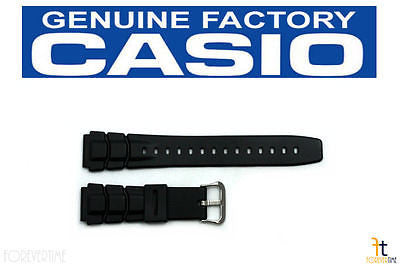 Casio 70621707 Genuine Factory Replacement Black Rubber Watch Band fits ALT-6000-1V ALT-6100-1V - Forevertime77
