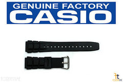 Casio 70621707 Genuine Factory Replacement Black Rubber Watch Band fits ALT-6000-1V ALT-6100-1V