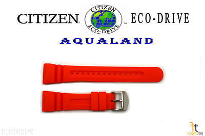 Citizen Eco-Drive JV0030-19F Original 26mm Orange Rubber Watch Band JV0020-21F - Forevertime77