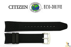 Citizen 59-S52587 Original Replacement 22mm Black Rubber Watch Band Strap