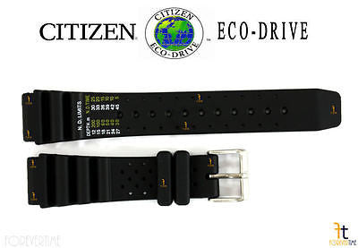 Citizen 59-S53408 Original Replacement 20mm Black Rubber Watch Band 59-S53198 59-S53155 59-S06105 59-S53197 - Forevertime77