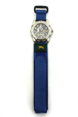 18mm Blue Nylon Sport Watch Band Strap Equestrian - Forevertime77