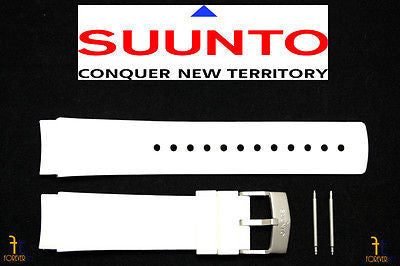 Suunto Elementum Ventus ORIGINAL White Rubber Watch BAND Strap Kit - Forevertime77