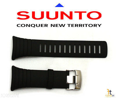 Suunto Core Standard Elastomer Original Black Rubber Watch Band Strap Kit - Forevertime77