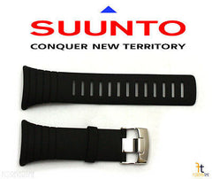 Suunto Core Standard Elastomer Original Black Rubber Watch Band Strap Kit