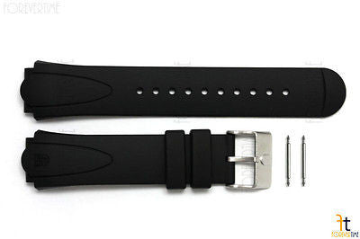 Luminox 0100 22mm Black Rubber Watch Band Strap w/2 Pins - Forevertime77