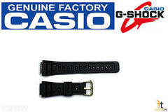 Casio 70360128 Genuine Factory Replacement Black Rubber Watch Band fits DW-5000 DW-5400C DW-5600C SWC-05