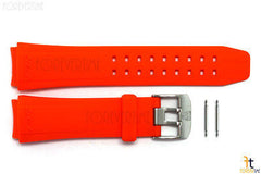 Luminox 9100 F16 22mm Orange Rubber Watch Band Strap w/ 2 Pins