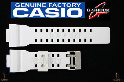 CASIO G-Shock GA-100A-7 Original White (Glossy) Rubber Watch BAND Strap - Forevertime77