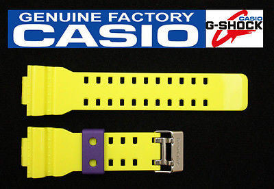 CASIO GA-110HC-6 G-Shock Original Yellow Glossy Rubber Watch Band Strap - Forevertime77