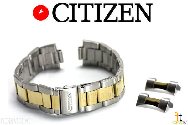 Citizen Original AN3124-53L 19mm Two-Tone Stainless Steel Watch Band Strap - Forevertime77