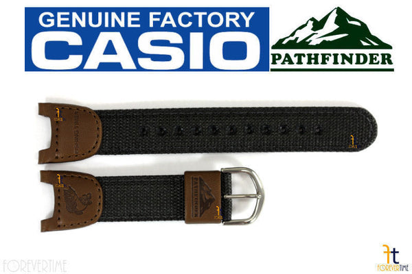 CASIO PATHFINDER PAS-400B-5V Original Fishing Timer Brown Nylon Watch BAND Strap - Forevertime77