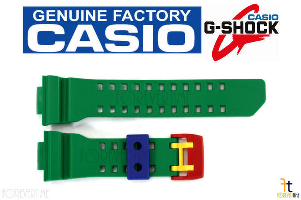 CASIO G-SHOCK GA-400-2A Original Green Rubber Watch BAND Strap - Forevertime77