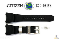 Citizen 59-S50342 Original Replacement Black Rubber Watch Band Strap
