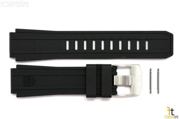 Luminox 0200 Sentry 22mm Black Rubber Watch Band Strap w/ 2 Pins - Forevertime77