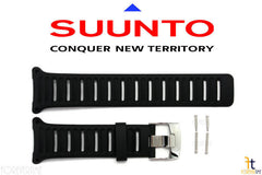 Suunto D4 / D4i Original Black Rubber Watch BAND Strap Kit w/ Pins