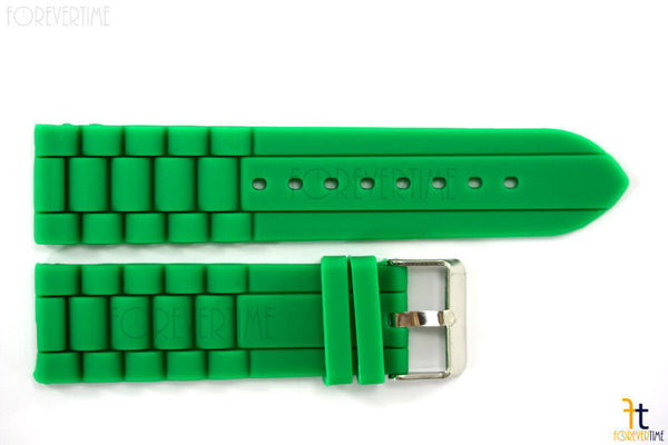 22mm Fits Fossil Green Silicon Rubber Watch BAND Strap - Forevertime77