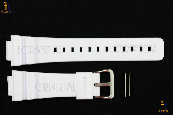 16mm Fits CASIO DW-6900 G-Shock White Rubber Watch BAND Strap DW-6600 w/ 2 Pins - Forevertime77