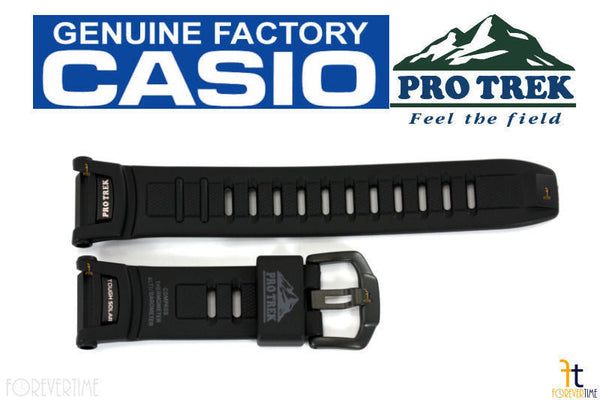 CASIO Pathfinder PRO TREK PRG-130Y Black Rubber Watch BAND Strap PRW-1500YJ - Forevertime77