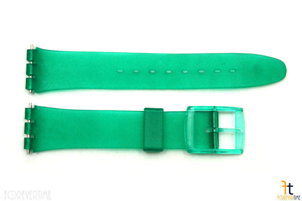 17mm Men's Translucent Frosted Green Replacement Watch Band fits SWATCH watches - Forevertime77