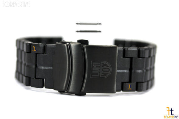 Luminox 3050 23mm Black Polymer Carbon Bracelet Watch Band w/2 Pins 3080 3800 - Forevertime77