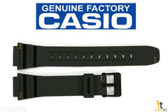 CASIO F-108WH-3AH 18mm Original Military Green Rubber Watch Band Strap