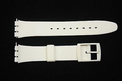 12mm Ladies White Soft PVC Replacement  Band Strap fits SWATCH watches - Forevertime77