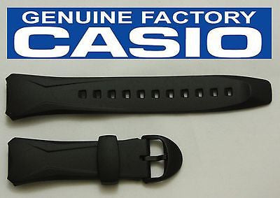 CASIO WVA-104HA Original 16mm BLACK Rubber Watch BAND Strap  WVA-104HY WVA-104H - Forevertime77