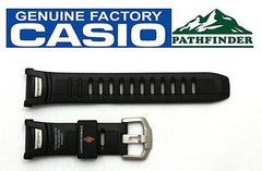 CASIO Pathfinder PAW-1500 16mm Original Black Rubber Watch BAND Strap PRW-1500
