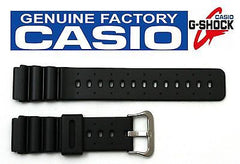 Casio 70612257 Genuine Factory Replacement Black Rubber Watch Band fits DW-2500C DW-4000 DW-401 DW-403 DW-4100C DW-6400C DW-7000C DW-7200C DW-8300 MD-753C