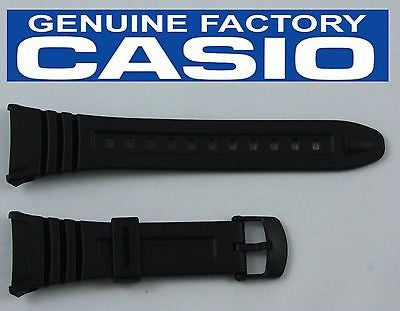 CASIO W-96H-1BV Original ILLUMINATOR BLACK Rubber Watch BAND Strap W-96-2AVH - Forevertime77