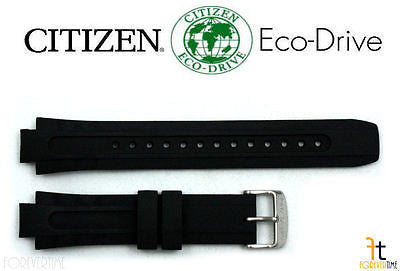 Citizen 59-S51871 Original Replacement 18mm Black Rubber Watch Band Strap - Forevertime77