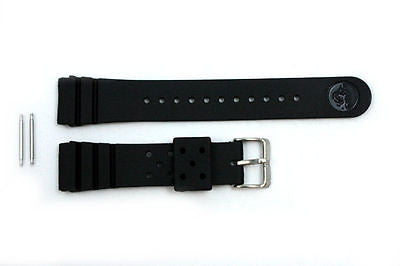 22mm for SEIKO Z-22 Divers Heavy Black Rubber Watch Band Strap w/ 2 Spring Bars - Forevertime77