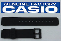 Casio 71604416 Genuine Factory Replacement Black Rubber Watch Band fits MQ-104 MQ-24 MQ-25 MQ-44 MQ-71 MQ-76 MQ-93 MQ-98 W-76