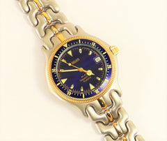 BELAIR Seapearl 600 Quartz Diver Watch Two-tone Stainless Steel Gold Plated Vintage New