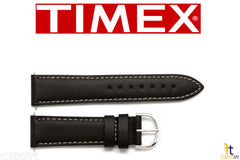 TIMEX Q7B858 Original 20mm Dark Brown Calfskin Leather Watch Band Strap w/ 2Pins