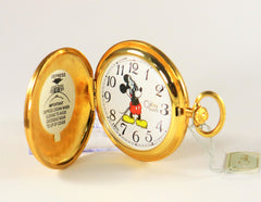Disney Mickey Mouse Pocket Watch made by COLIBRI Swiss Made Vintage Brand New