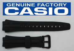 CASIO AQ-163W 17mm Original Black Rubber Watch BAND Strap AQ-163WG AQ-160W