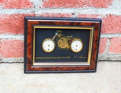 P. Ammon Horological Collage Art Made from Watch Parts Harley-Davidson Sportster CH. 1958