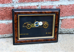 H. Lehner Horological Collage Art Made from Watch Parts 1936 BMW 328