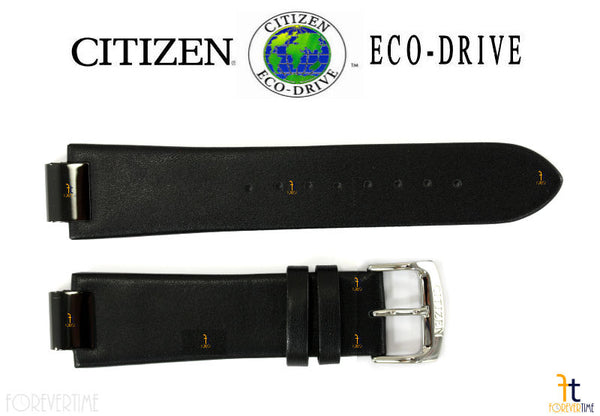 Citizen 59-S52772 Original Replacement 23mm Black Leather Watch Band Strap - Forevertime77