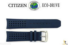 Citizen 59-S52543 Original Replacement 23mm Blue Leather Watch Band Strap