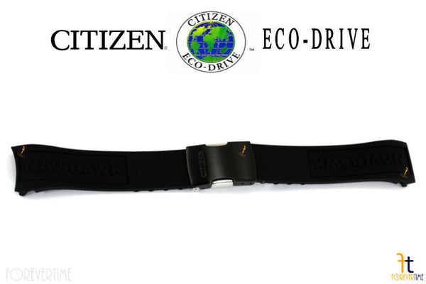 Citizen 59-S52806 Original Replacement Black Rubber Watch Band Strap - Forevertime77
