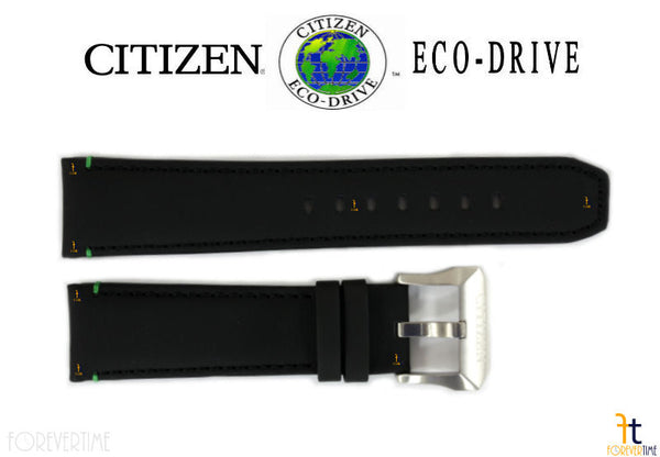 Citizen 59-S53481 Original Replacement 22mm Black Leather Watch Band Strap - Forevertime77
