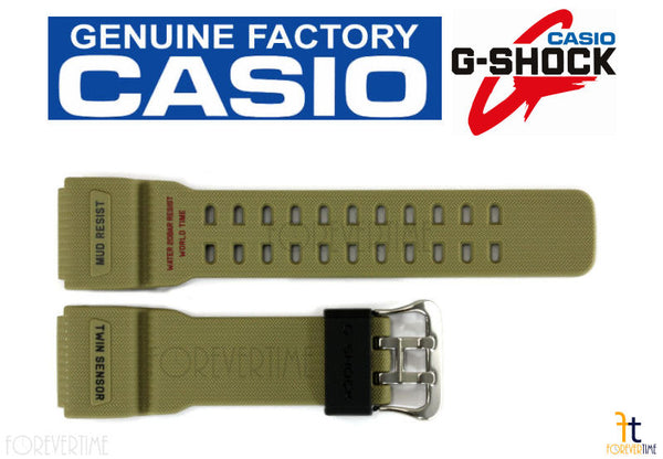 CASIO G-SHOCK Mudmaster GG-1000-1A5 Original Tan Rubber Watch Band Strap - Forevertime77