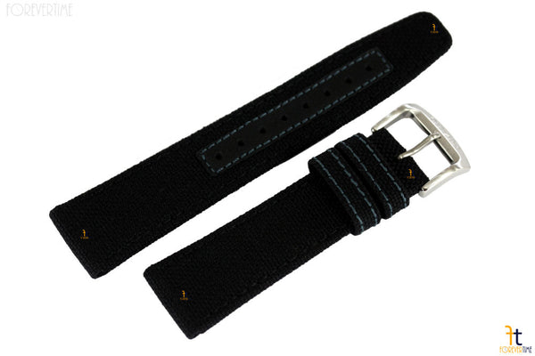Citizen 59-S53406 Original Replacement 22mm Black Nylon Watch Band Strap - Forevertime77