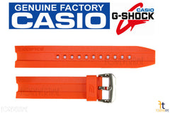 Casio 10449650 Genuine Factory Replacement Orange Resin Rubber Watch Band fits EMA-100B-1A4V