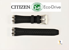 Citizen Skyhawk 59-S53505 Original Black Polyurethane Watch Band 4-S106061, JY8051-08E