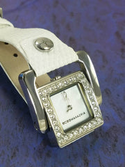 BCBG MAX AZRIA Watch Stainless Steel Dial Mother of Pearl Square Dial White