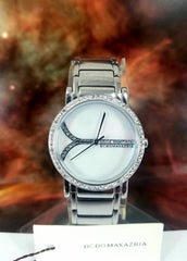 BCBG MAX AZRIA Watch Stainless Steel Crystal Bezel